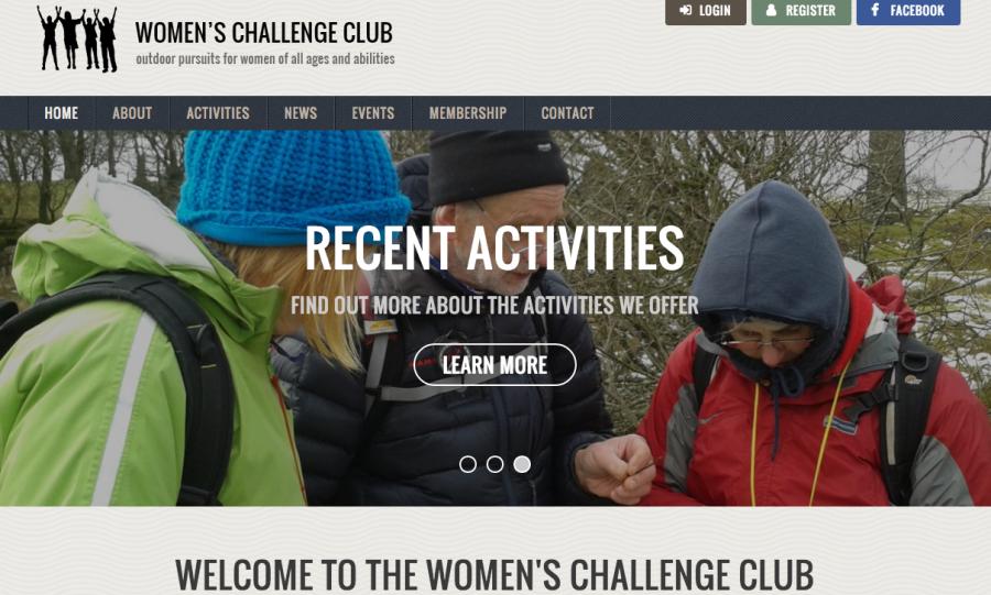 The New Women's Challenge Club Website